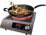2 Ventilador de refrigeración Cocina de acero inoxidable de 3500W eléctrica de inducción Cooktop, Electric Countertop quemadores