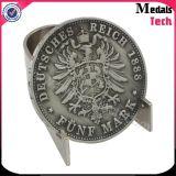 Логос популярной формы Buliding круглый напечатанный Sandblasted изготовленный на заказ монетки возможности металла