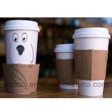Бумажный стаканчик фабрики Китая низкой цены оптовым напечатанный логосом одностеночный с кофейными чашками крышек многоразовыми