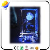 Cristal grabado de vidrio adornos de mesa