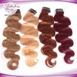 6# Corpo de cor de cabelo Onda Cabelo Virgem Rainha Remy peruana