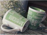 Taza grabada aduana de encargo de encargo de la taza de café de la taza del esmalte