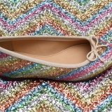 Hot-Selling Glitter PU Leather para sapatos (HS-M238)