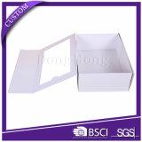 공장 제안 백색 짜임새 서류상 폴딩 Windows를 가진 엄밀한 선물 상자