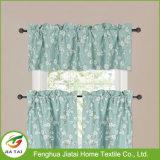 Testes padrões do indicador das cortinas da cozinha do verde da alta qualidade do poliéster