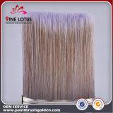 Cerda suave del animal doméstico de la alta calidad con el cepillo de pintura circular de la virola del arco de la maneta de madera