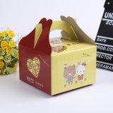 Weißbuch-Kasten für kleinen Kuchen/Tortenschachtel/Kuchen-Kasten mit freiem Plastik-Belüftung-Fenster