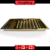 Яркий Золотой Металлический лоток для стружки в покер казино таблица лоток чип случае Ym-CT13