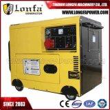 6.5kw lourd silencieux portatif générateur diesel de 6500 watts (monophasé/triphasé)