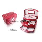 Caja/rectángulo de Cuero Plegables de la Joyería del Almacenaje del Regalo de la PU del Diseño Europeo de Lujo