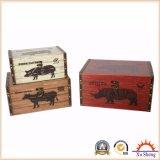 Antike Möbel-dekorativer Kasten für Speicherung und Geschenk-Kasten für Geschenke mit Bauernhof-Huhn-Muster
