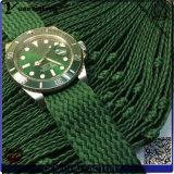 Yxl-460 van Hoogste het Verkopen van de manier Levering voor doorverkoop van de Horloges van het Embleem van de Douane van het Kwarts van het Polshorloge van de Riem van Perlon van het Geval van het Horloge Mensen de Roestvrije Roestvrije Promotie