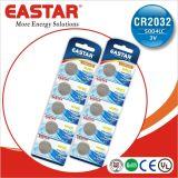 batterie delle cellule del tasto di 3V Cr2032 Limno2