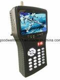 """4.3 """" tester tenuto in mano del cercatore di Sat con l'output di forza motrice di DC12V per la macchina fotografica del CCTV"""
