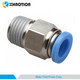 Enfoncer pneumatique de Xhnotion l'air ajustant le connecteur mâle droit pour l'industrie automatique