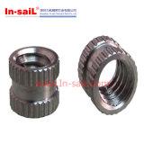 Noix directement moletée de garniture intérieure d'acier inoxydable