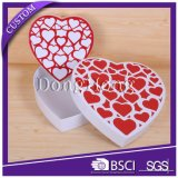 Cadre de papier de empaquetage personnalisé de forme de coeur de cadeau de luxe de chocolat
