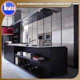 Деревянный кухонный шкаф кухни для домашней (подгонянной) мебели