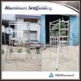 新しいデザインアルミニウム足場移動式足場タワーのFoldable足場