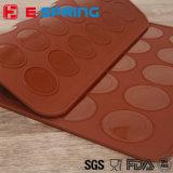 Moulage de gâteau de silicones de catégorie comestible de couvre-tapis de traitement au four de Macaron de modèle de les deux côtés