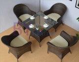 屋外のバルコニーの庭のコーヒー・ハウスの余暇のPEの藤の家具