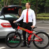 Batería de litio de 26 pulgadas de aleación de aluminio de la ciudad de bastidor de la bicicleta plegable eléctrica con pantalla LED