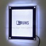 La plupart de cadre en cristal d'éclairage LED d'étalage acrylique mince populaire de Frameless