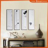 Art imprimable abstrait de mur peignant la peinture à l'huile faite sur commande estampée par groupe de 4 panneaux