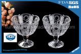 卸し売り装飾的なアイスクリームのガラスコップ400ml---500ml