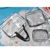 3 in 1 sacchetto cosmetico promozionale di trucco della radura del sacchetto della lavata del PVC
