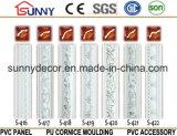 Moulage matériel de corniche de /Polyurethane de moulage de corniche d'unité centrale de configuration simple argentée de couleur