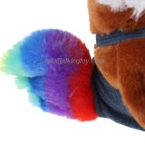 De kleurrijke Gevulde Kip van het Dier van het Landbouwbedrijf van de Pluche met Overall