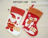Bas de décoration d'arbre de Santa et de bonhomme de neige, 3assorted