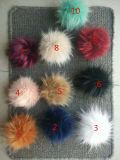 Pompom all'ingrosso della pelliccia del Faux con colore del cappello del Beanie multi