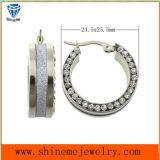 De Oorring van het Roestvrij staal van de Juwelen van de Manier van Shineme met CZ (ERS6951)
