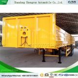 Tri-Axle 50tonne 40pieds à plat la paroi latérale de lit Cargo semi-remorque de camion pour la vente