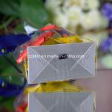 Bolso transparente del cuadrado de la parte inferior plana de Customzied BOPP para el caramelo, regalo, alimento, bolso del pan con la impresión