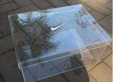 Boîte de présentation acrylique claire de luxe faite sur commande de chaussure