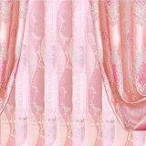 ロマンチックなポリエステルジャカード停電の窓カーテン(33W0049)