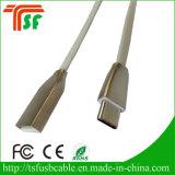 Novo estilo USB Tipo-C Cabo de dados Liga de zinco Dados USB