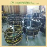 Fil d'acier recouvert de caoutchouc renforcé par une tresse le flexible hydraulique (SAE100 R2-3/8)
