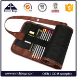 Pencil Holder Organizer Pencils Roll up Bolsa Bolsa de canetas de lona