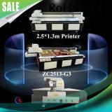 Большой формат выбивает принтер белых чернил влияния UV планшетный