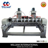 Multi Heads Rotary drill CNC Router for Woodworking (VCT- 3512R- 6H)