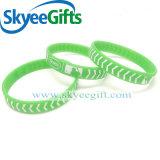 Wristband di incandescenza con il marchio personalizzato per il regalo