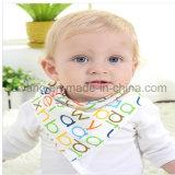 Venta caliente linda Impreso de algodón suave del bebé del pañuelo babero