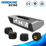 Medidor de pneu digital de energia solar com 4 sensores de pneu para carro, furgão, 4 rodas