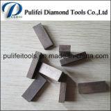 O grupo do diamante viu o segmento da lâmina para a estaca de pedra de mármore