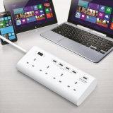 4 заряжатель USB x 5V 1 X 12V супер с силой Stirp ограничителя перенапряжения выхода штепсельной вилки 4 портов UK