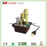 Фонтан воды USB Polyresin Bamboo для украшения таблицы